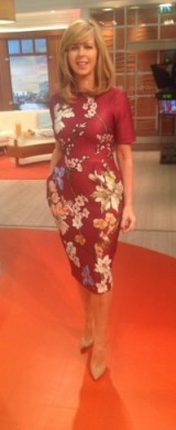 ASOS.com oriental dress and office.co.uk shoes for Kate Garraway today