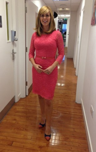 Kate Garraway looks amazing! next.co.uk / Alie Street pink lace dress