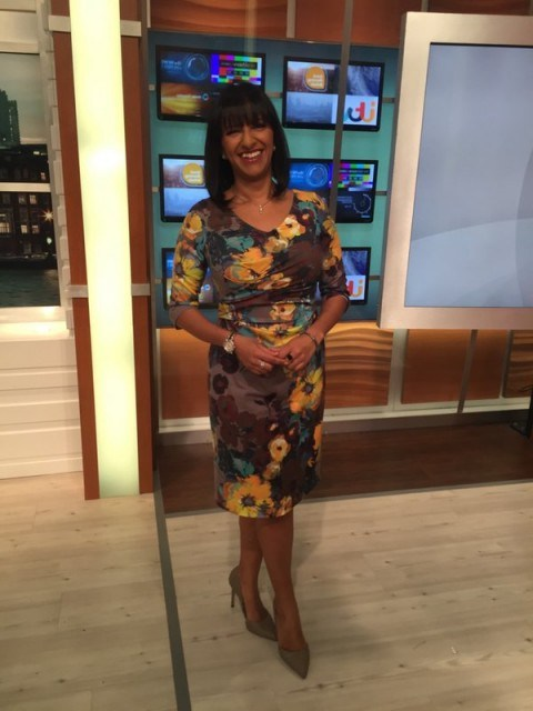 Ranvir Singh in pretty lukelovely.com dress on GMB - flipped