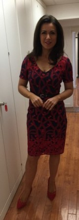 Susanna Reid – Red with black dress from fennwrightmanson.com and tedbaker.com shoes