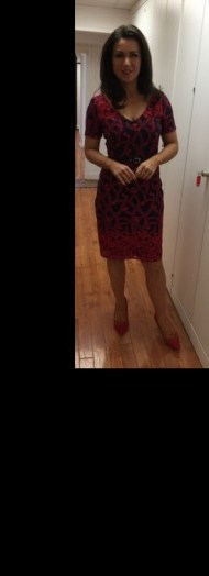 Susanna Reid – Red with black dress from fennwrightmanson.com and tedbaker.com shoes - flipped