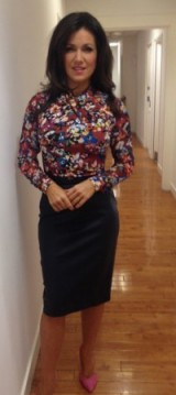 Susanna Reid KarenMillen.com shirt zara.com skirt next.co.uk shoes