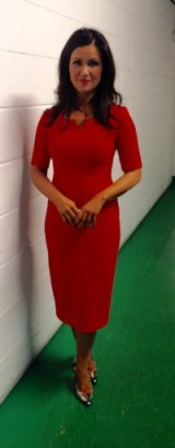 How does Susanna Reid always look so great in the morning? This time she has on a red LKBennett.com dress and shoes #gmb