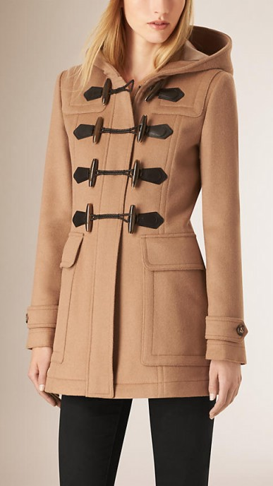 Burberry fitted wool duffle coat in new camel ~ winter coats ~ casual luxe ~ designer outerwear
