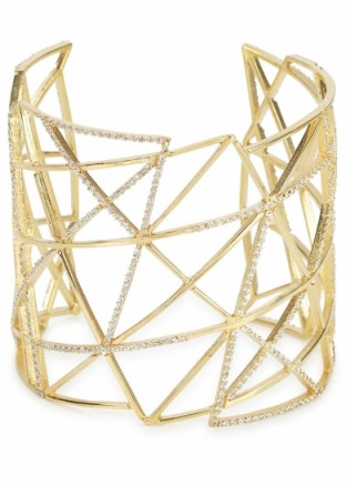 JOANNA LAURA CONSTANTINE Gold-plated cuff with Swarovski crystals ~ jewellery ~ embellished cuffs ~ chic style