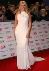 Holly Willoughby looks stunning at the NTA's in this white gown. Does anyone know who sells it?