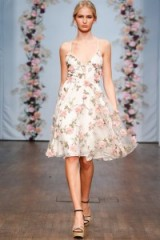 Ida Sjöstedt Spring 2016 – semi sheer white dress with pink applique roses