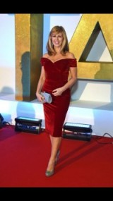 NTA time! Kate Garraway looking fabulous in a red theprettydresscompany.com frock #dress
