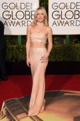 Kate Hudson shimmered in a dramatic cut out gown by Michael Kors when she attended the 2016 Golden Globe Awards – Golden Globes – star style – celebrity gowns – red carpet fashion