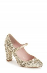 kate spade new york 'angelique' mary jane pump. Sequin Mary Janes ~ sequined pumps ~ embellished shoes ~ glittering style