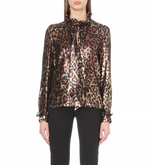 Ruffle Leopard Blouse 64