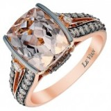 le vian 14ct strawberry gold chocolate morganite ring ~ bling rings ~ jewellery ~ make a statement ~ jewels ~ diamonds