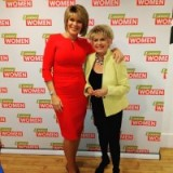 Loose Women time again! This time Ruth Langsford on the left has on am EdenRow.co.uk orange dress whilst Gloria Hunniford has a jacket from Zara,com