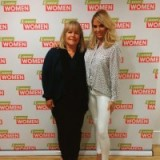 Katie Price on the right looking pretty in her own outfit and Linda Robson is wearing Topshop.com on Loose Women