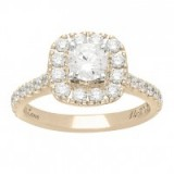 Neil Lane 14ct gold 1.50ct diamond halo ring ~ bling rings ~ diamonds ~ make a statement ~ jewels ~ jewellery