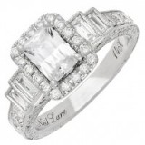 Neil Lane 14ct White Gold 2.09ct Diamond Halo Ring ~ bling rings ~ jewellery ~ jewels ~ make a statement ~ diamonds