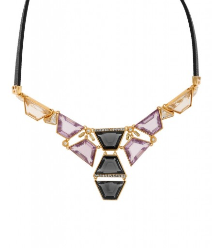 Henri Bendel Jewelry On The Rocks Crystal Collar with Cubic Zirconia and sugar glass stones. Fashion jewellery | statement collars | purple tone necklaces