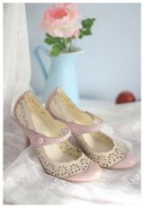 Pastel lilac and cream Mary Janes ~ vintage style Mary Jane shoes ~ retro look pumps