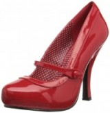 Pinup Couture red patent Mary Jane pumps. Retro style Mary Janes ~ vintage look shoes ~ high heels