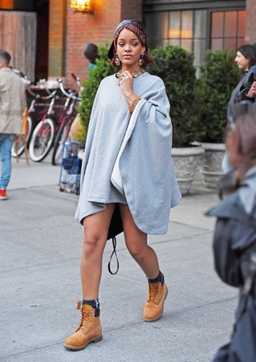 Rihanna Street Style Out In New York City
