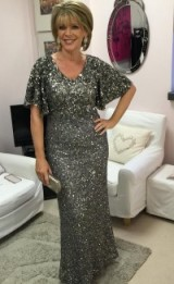 Ruth Langsford looking glamorous for the NTA's in a phase-eight.com sparkly dress #nationaltelevisionawards