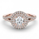The Diamond Story 18ct rose gold 1ct diamond halo ring ~ diamonds ~ bling rings ~ engagement ~ make a statement ~ jewellery ~ jewels
