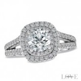 Vera Wang 18ct white gold 1.95ct H1/SI2I1 diamond split ring ~ bling rings ~ make a statement ~ jewels ~ diamonds ~ jewellery