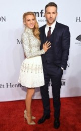 Blake Lively and husband Ryan Reynolds on the red carpet at the amfAR Gala in New York, February 2016 – stars at events – celebrity style – event fashion