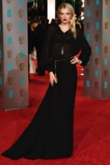 Lily Donaldson in Burberry at the 2016 BAFTAs. Celebrity fashion | red carpet gowns | designer dresses | star style | BAFTA Awards