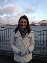 Laura Tobin looked wrapped up warm this morning!