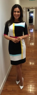 Susanna Reid looks wonderful in this Joseph Ribkoff dress! #gmb