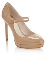 Nude Mary Jane platform shoes with stiletto heel – High heeled Mary Janes – high heels – classic style