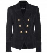 BALMAIN Suede blazer – black blazers – chic style – luxe jackets – designer fashion