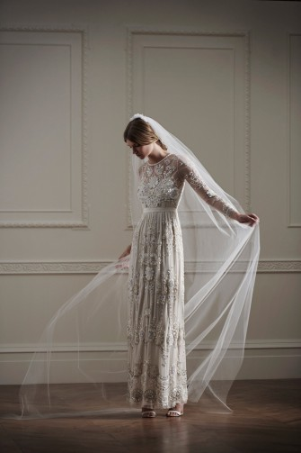 Needle Amp Thread Bridal Lace Tulle Maxi Dress Floral
