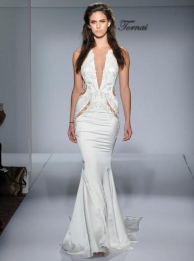 Pnina Tornai satin plunge front wedding dress Fall 2016 ~ designer ...