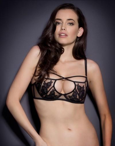 Agent Provocateur Rosa Bra Black ~ luxury lingerie ~ semi sheer bras ~ sexy underwear
