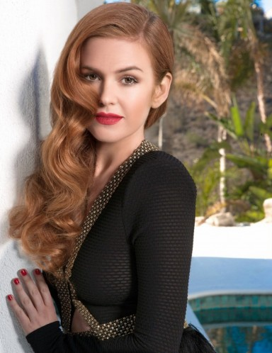 Isla Fisher's retro waves. Celebrity hairstyles | vintage style hair | make up and beauty | long auburn locks