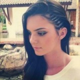 Kendall Jenner's undercut braids – celebrity hairstyles – braided hair – braids – make up & beauty