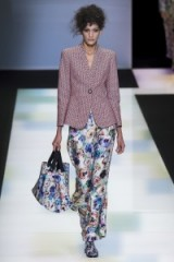 Giorgio Armani a/w 2016. Runway fashion   designer clothing   chic outfits   printed trousers