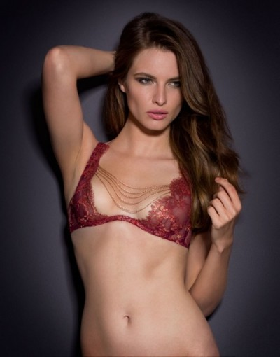 Agent Provocateur Inka Bra Red/Gold ~ sexy underwear ~ luxury lingerie ~ luxe lace bras