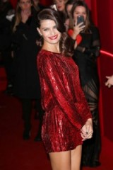 Isabeli Fontana wears a red sequin mini dress at the 2016 L'Oréal Red Obsession Party ~ celebrity dresses ~ glamour & style