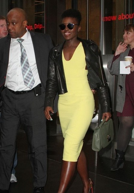 stylish Lupita Nyong'o ~ stylish celebrities ~ beautiful women ~ chic look - flipped