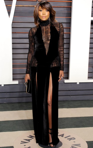 Gabrielle Union 2016 oscars party ~ beautiful women ~ women with style