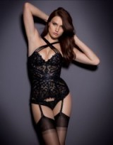Agent Provocateur Raive Basque Black ~ sexy underwear ~ luxury lingerie ~ luxe embroidered basques ~ bodyshapers