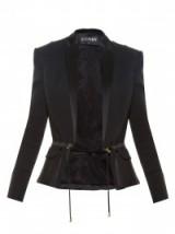 BALMAIN Resort 2016 Satin-lapel cady blazer in black ~ jackets ~ blazers