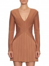 V-neck bandage mini dress ~ rose gold ~ dresses ~ Balmain