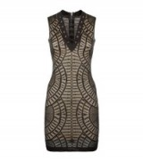 Balmain Mesh Lace-Up Mini Dress ~ LBD ~ designer bodycon dresses ~ little black dress ~ occasion wear