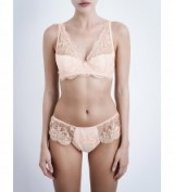 MIMI HOLLIDAY Ever yours padded lace plunge bra peach ~ lingerie sets ~ bras & briefs ~ feminine underwear
