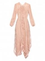 ZIMMERMANN Henna embroidered silk-chiffon dress in dusky pink ~ luxe ~ luxury ~ feminine ~ summer ~ holiday ~ designer dresses ~ fashion ~ chic boho style