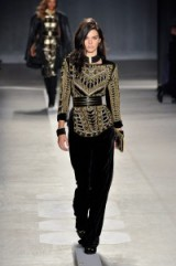 Kendall Jenner on the catwalk for Balmain